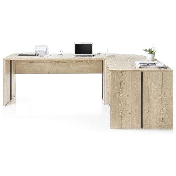 Psací stůl - rohová kombinace FJORD dub cleveland 3