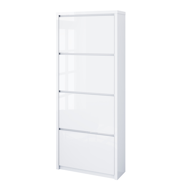 Sconto Botník FLAP bílá vysoký lesk, výška 162 cm - nábytek SCONTOnábytek.cz