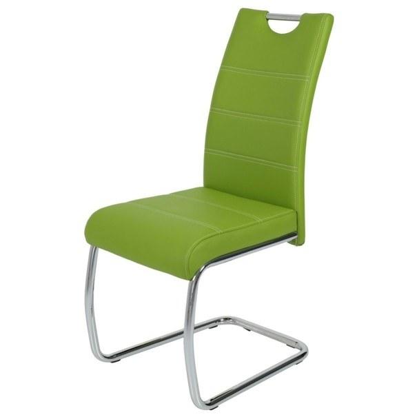 Sconto Jídelní židle FLORA S zelená, syntetická kůže - nábytek SCONTO nábytek.cz