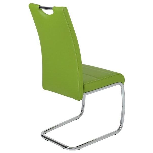 Jedálenská stolička FLORA S zelená, syntetická koža 2