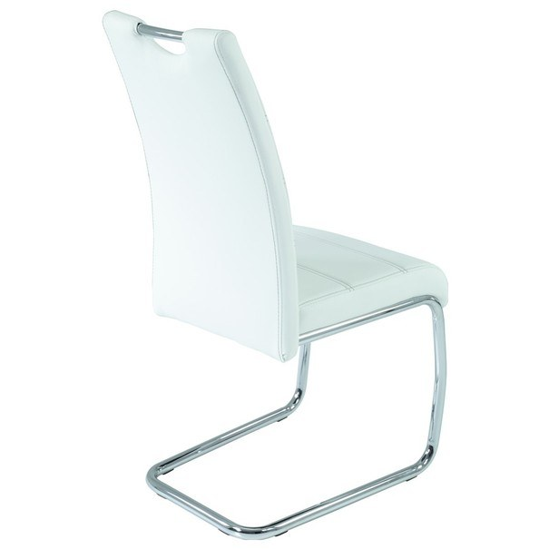 Jedálenská stolička FLORA S biela, syntetická koža 2