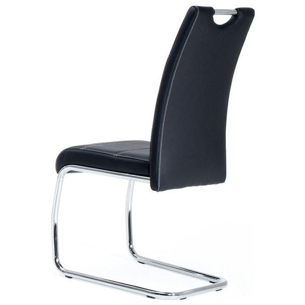 Jedálenská stolička FLORA S čierna, syntetická koža 2