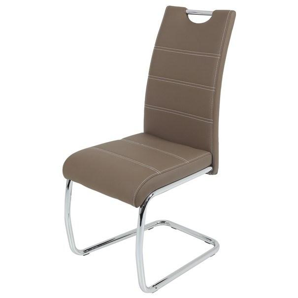 Jedálenská stolička FLORA S hnedá, syntetická koža 1