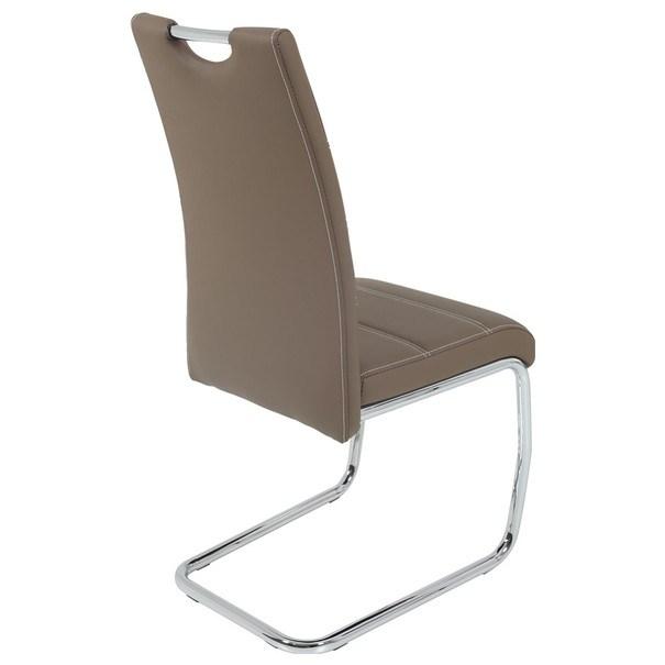 Jedálenská stolička FLORA S hnedá, syntetická koža 2