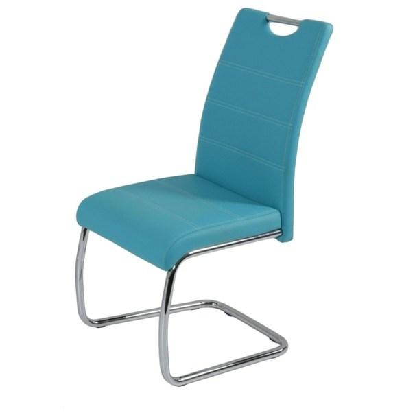 Jídelní židle FLORA S modrá, syntetická kůže 1