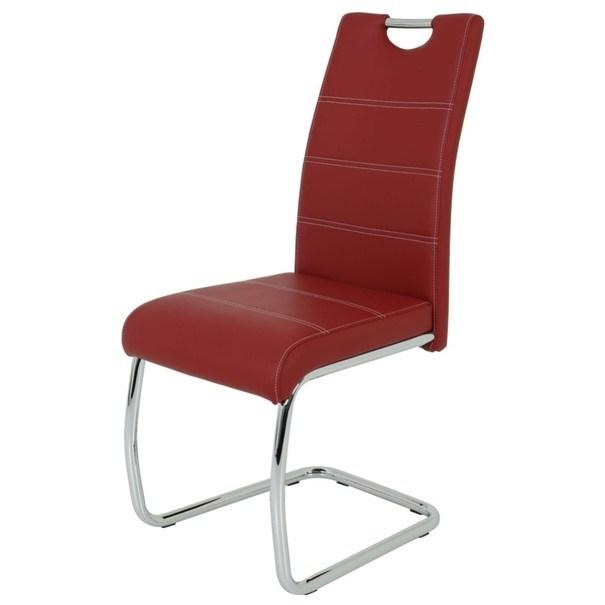 Sconto Jídelní židle FLORA S bordó, syntetická kůže - nábytek SCONTO nábytek.cz