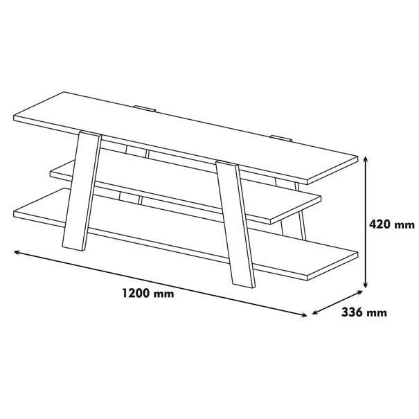TV stolek  FLOWER ořech/bílá 4