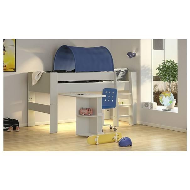 Zvýšená postel se schůdky  FOR KIDS 613 bílá, 90x200 cm 2