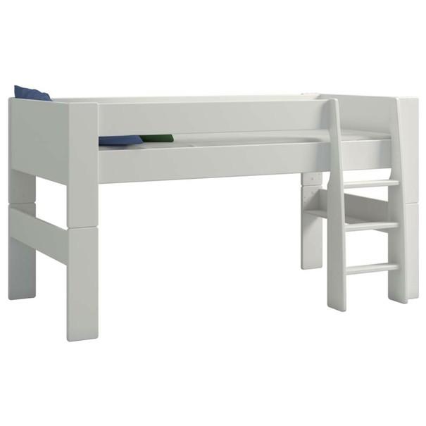 Zvýšená postel se schůdky  FOR KIDS 613 bílá, 90x200 cm 4
