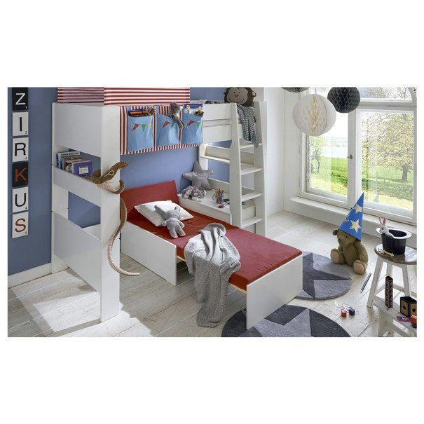 Rozkladacia posteľ s perinákom FOR KIDS 631 biela, 75x180 cm 2