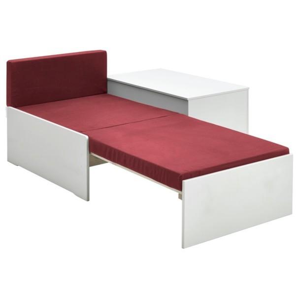 Rozkladacia posteľ s perinákom FOR KIDS 631 biela, 75x180 cm 3