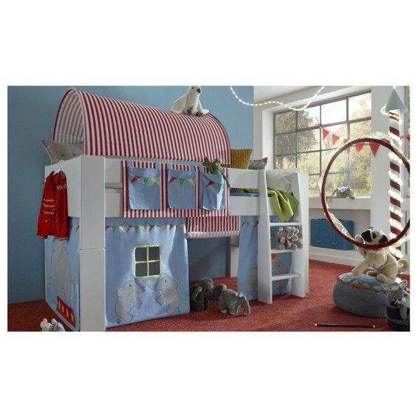 Textilní tunel FOR KIDS červeno-bílé proužky 2