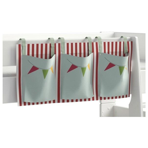 Textilní kapsář FOR KIDS červeno-bílé proužky 2