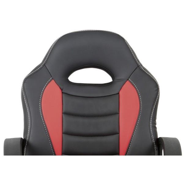 Kancelářská židle FRODO černo-červená 8