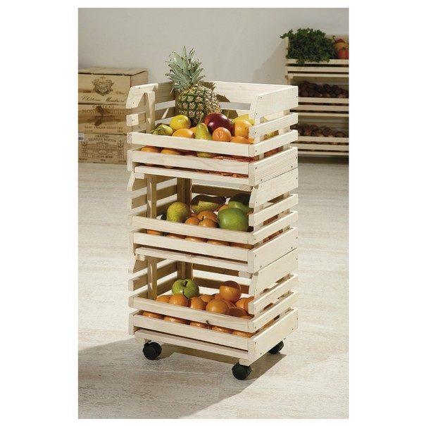 Regál FRUITS přírodní jedle 2