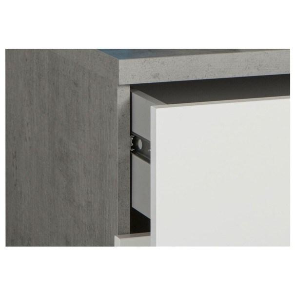 Nočný stolík GAVERA biela/betón 4