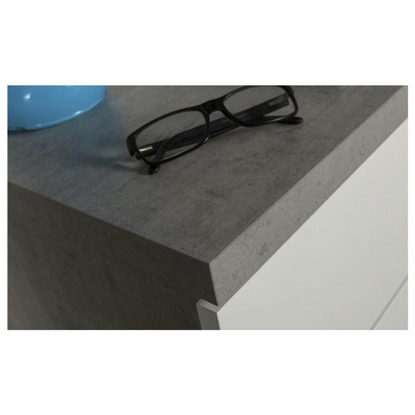 Nočný stolík GAVERA biela/betón 5