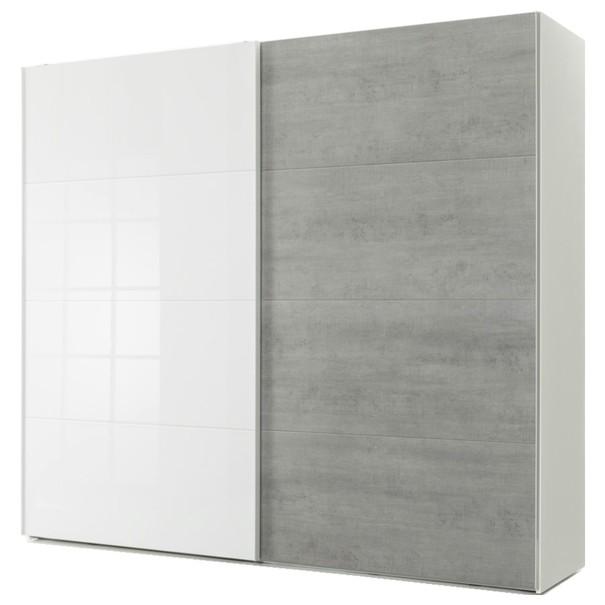 Sconto Skříň GAVERA bílá/beton - nábytek SCONTO nábytek.cz