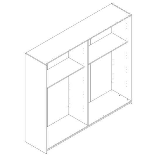 Skriňa GAVERA biela/betón 3