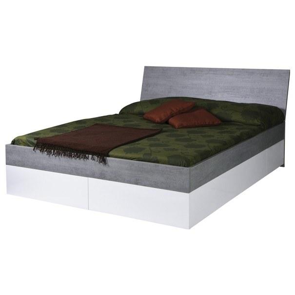 Posteľ  GAVERA biela/betón, 180x200 cm 4
