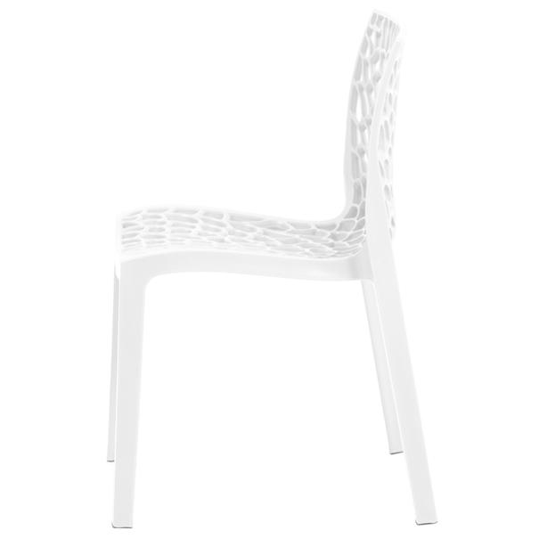 Jedálenská stolička GENESIS biela 2