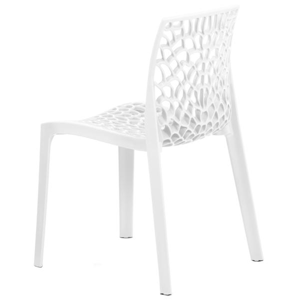 Jedálenská stolička GENESIS biela 3