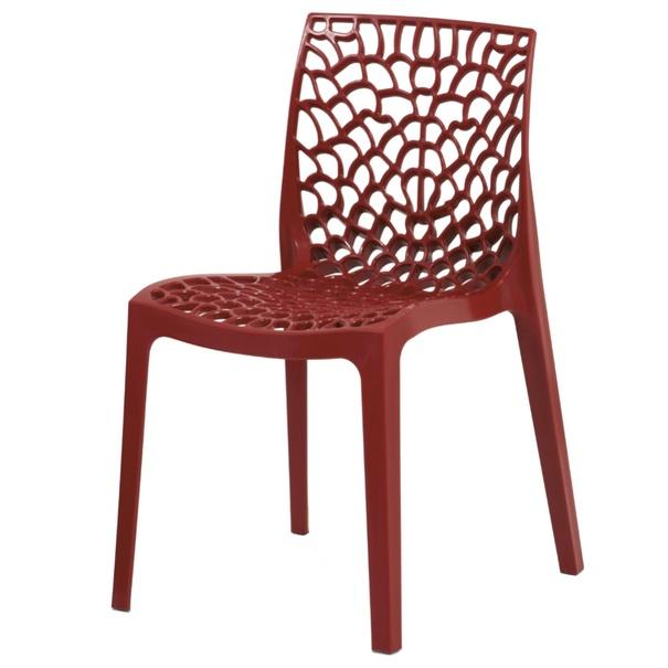 Jedálenská stolička GENESIS červená 1