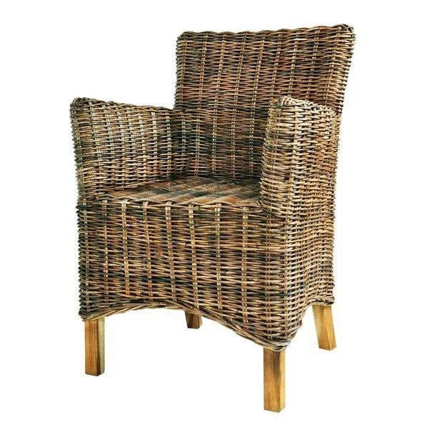 Jídelní židle  GENIO KUBU přírodní/ratan 1
