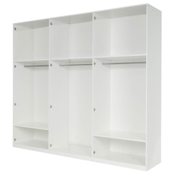 Šatní skříň GENUA bílá, šířka 270 cm 3