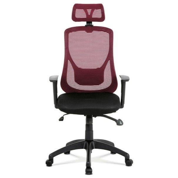 Kancelárska stolička GEORGE červená/čierna 2