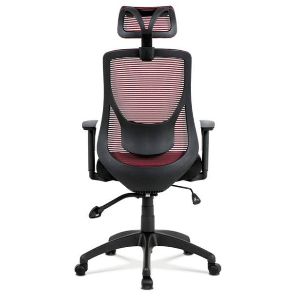 Kancelárska stolička GEORGE červená/čierna 5