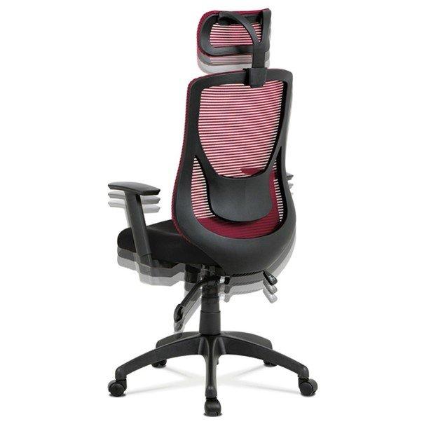 Kancelárska stolička GEORGE červená/čierna 6
