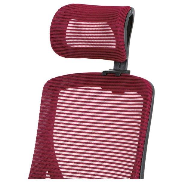 Kancelárska stolička GEORGE červená/čierna 8