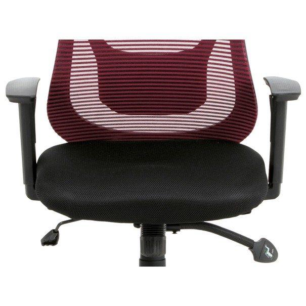 Kancelárska stolička GEORGE červená/čierna 10