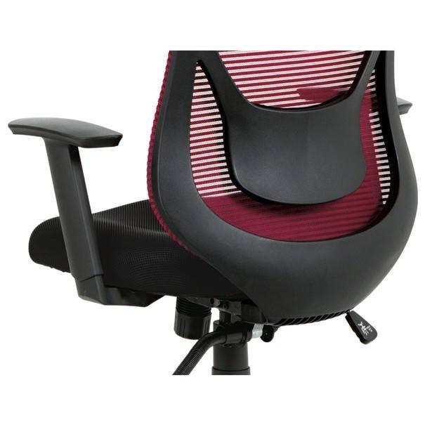 Kancelárska stolička GEORGE červená/čierna 11