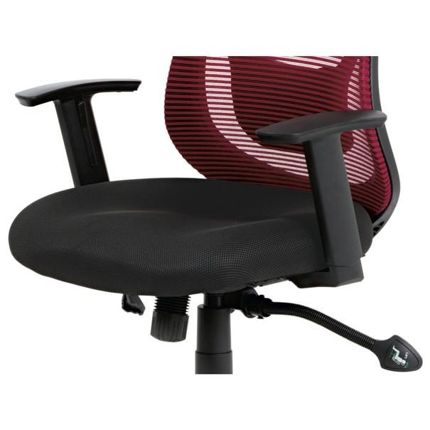 Kancelárska stolička GEORGE červená/čierna 12