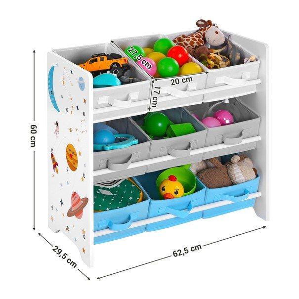 Dětský regál GKR33WT vícebarevná 3