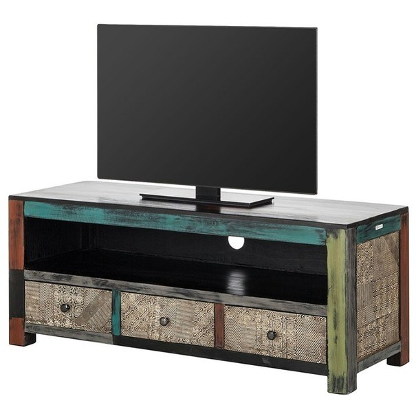 TV stolek GOA  mangovník/akácie/kovové aplikace 1