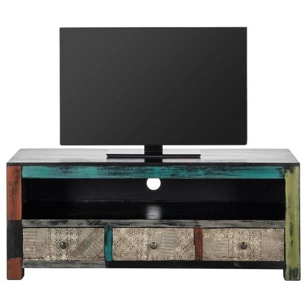 TV stolek GOA  mangovník/akácie/kovové aplikace 3