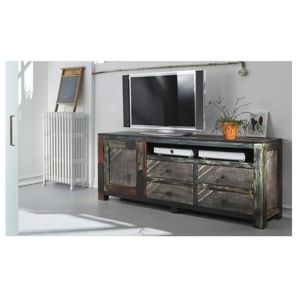TV stolek GOA  mangovník/akácie/kovové aplikace 2