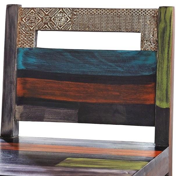 Barová stolička GOA mangovník/akácia/kovová aplikácia 3