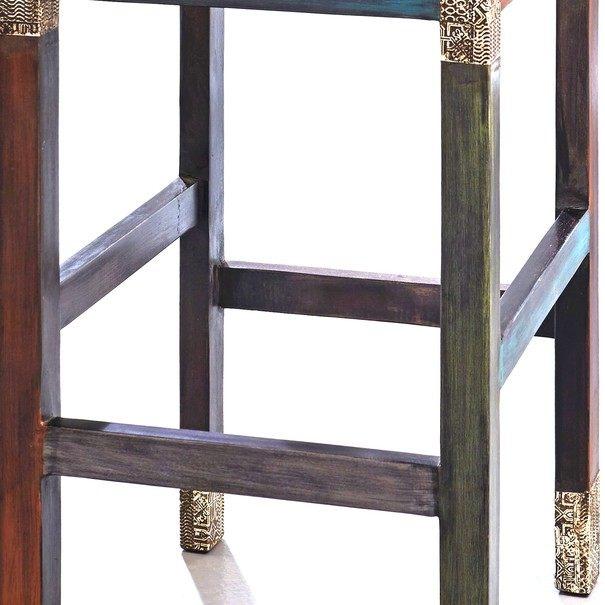 Barová stolička GOA mangovník/akácia/kovová aplikácia 5