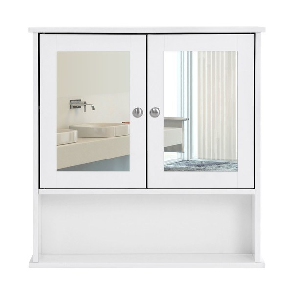 Koupelnová skříň se zrcadlem GORDES bílá 7