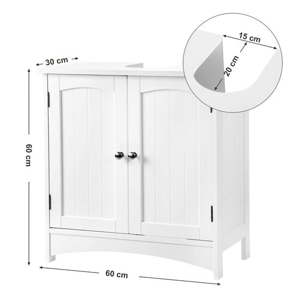 Umyvadlová skříňka GORDES bílá 5