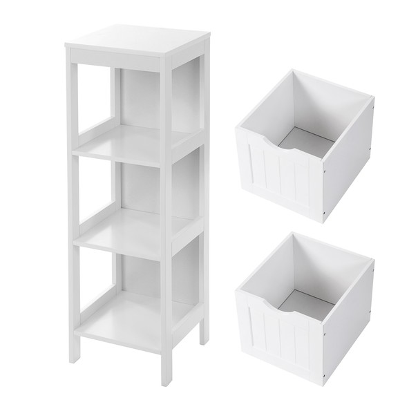 Koupelnová skříňka GORDES bílá 4