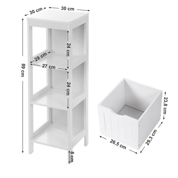 Koupelnová skříňka GORDES bílá 7