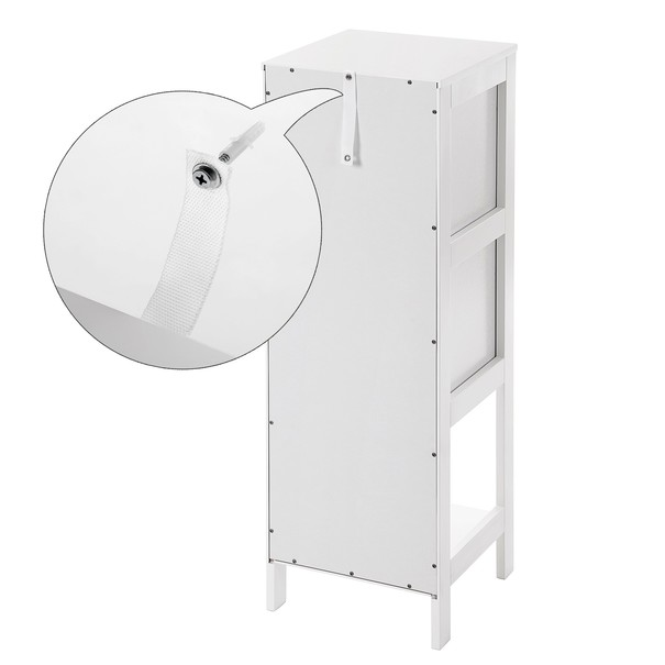 Koupelnová skříňka GORDES bílá 6