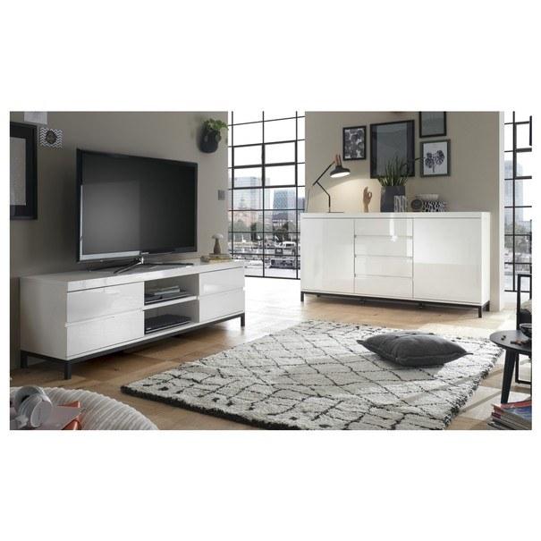 TV stolek GORDON bílá 2