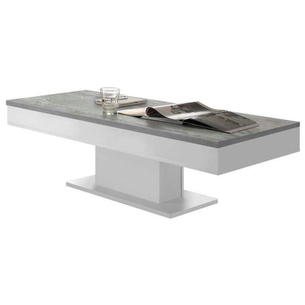 Sconto Konferenční stolek GRANNY 120 DUB bílá matná/beton - nábytek SCONTOnábytek.cz