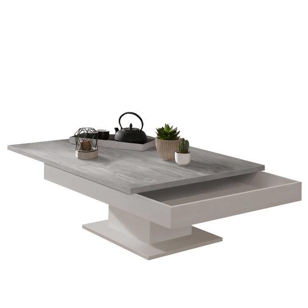 Konferenční stolek GRANNY bílá matná/beton 3